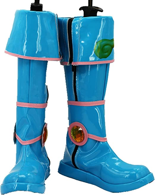 Yu-Gi-Oh Dark Magician Girl Blue Cosplay costume Boots Boot Shoes Shoe
