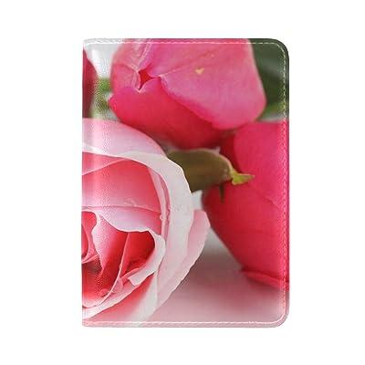 Rose Petals Bouquet Leather Passport Holder Cover Case Travel One Pocket