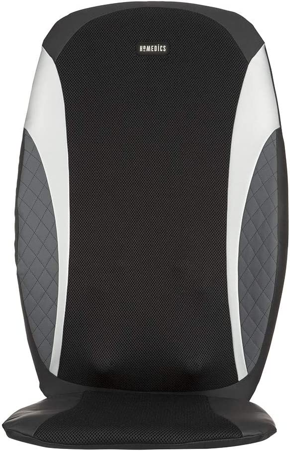 HoMedics 8-Node Shiatsu Massage Cushion - Vibration Massager with Heat & Programmed Controller