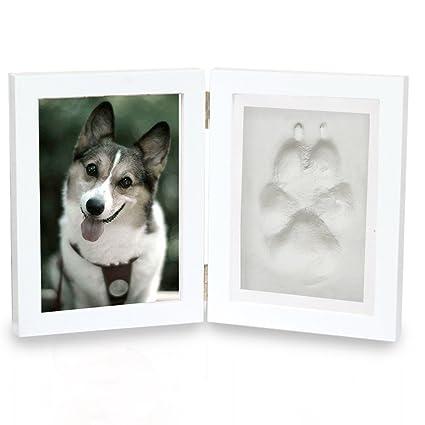 Amazon.com : Pet Memorial Frame, Dog Cat Paw Print Keepsake Photo ...
