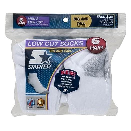 Starter Mens 6-Pair White Low Cut Socks - Big & Tall ...