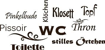 Graz Design 650160_30_080 Wandtattoo Deko Für Bad Sprüche Wand Aufkleber  Für Badezimmer Toilette WC Stilles Örtchen