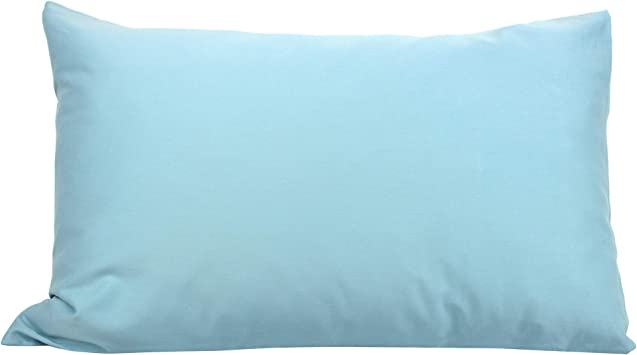 Funda de Almohada 70 x 50 cm Uni satén de algodón, Louvre, Color Azul Claro: Amazon.es: Hogar