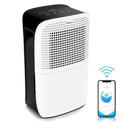 .com - Vacplus 50 Pints Dehumidifier with WiFi Remote for Large Rooms, Large Capacity for Basements Bedroom & Home, Dehumidifier Removes Moisture Efficiently, Two Continuous Drainage Mode with Dehumidifier -