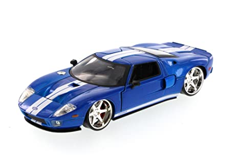 Fast Furious Ford Gt Hard Top Blue With White Stripes Jada