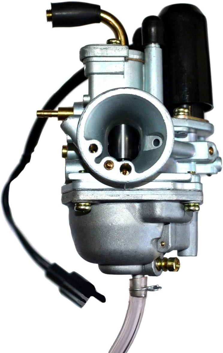 Eton 634084 Two Stroke Manual Choke Carburetor /& Cable E-ton 50cc 70cc 90cc ATVs