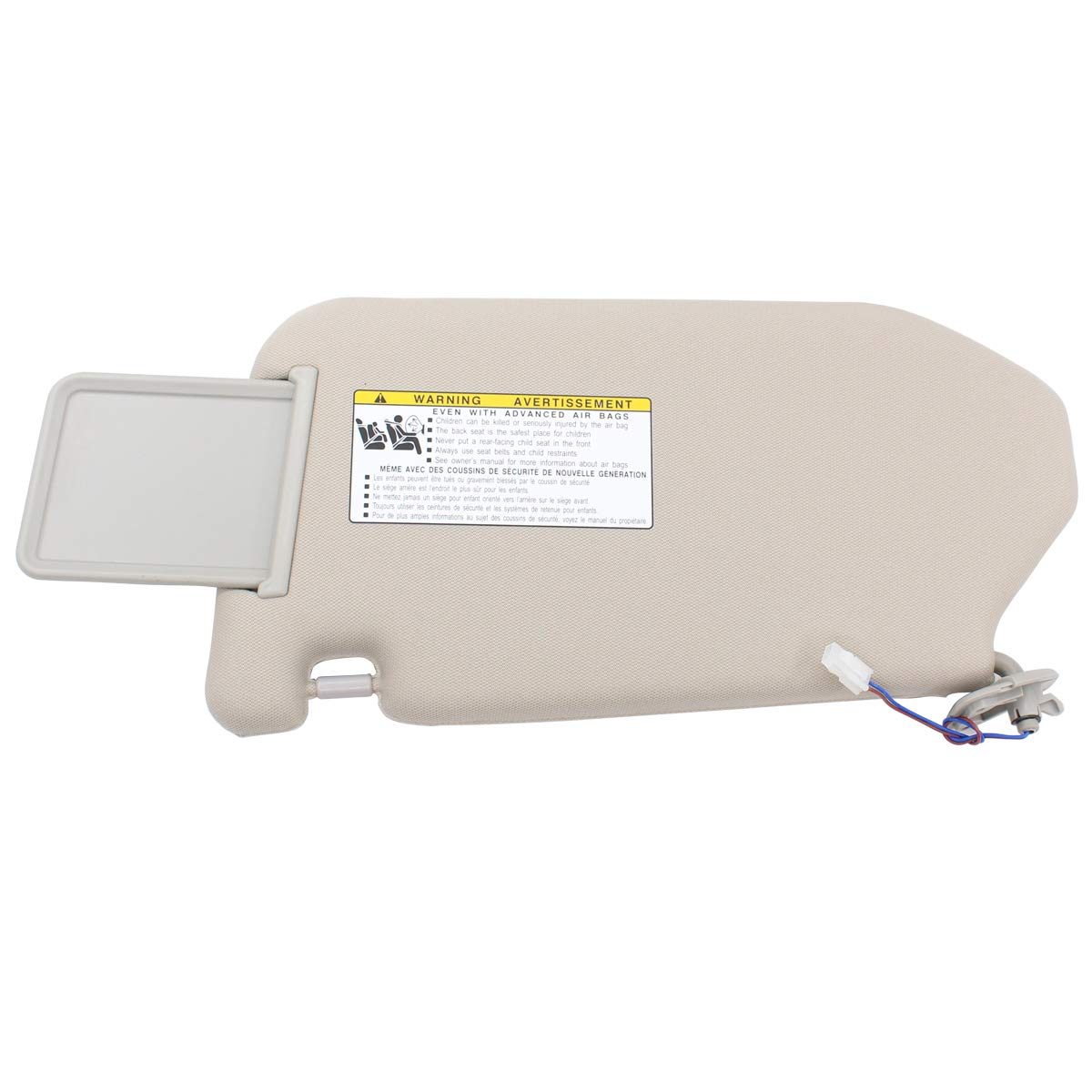 NewYall Set of 2 Front Left Driver and Right Passenger Side Tan Sun Visor with Mirror