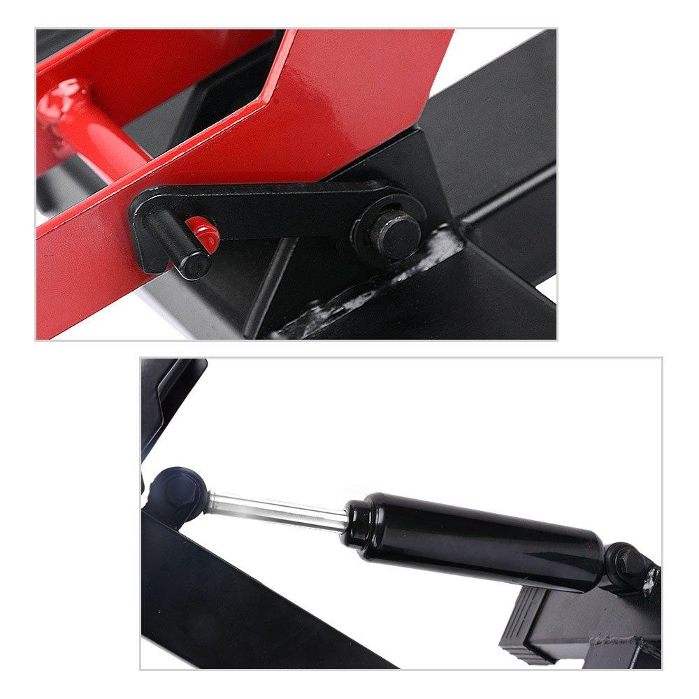 YITAMOTOR Red/Black Dirt Bike Motorcycle Motocross Maintenace Adjustable Lift Steel Stand 330 LB Load Capacity by YITAMOTOR (Image #5)