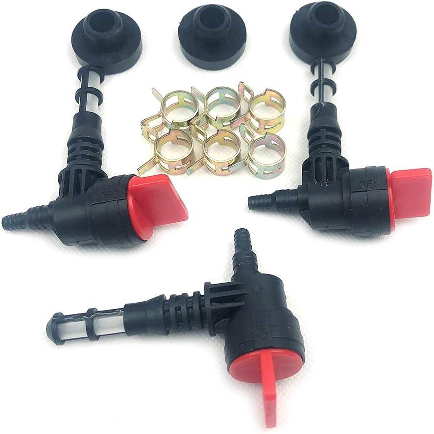 Paquete de 3 válvulas de cierre de combustible para 192980GS 78299GS 80270GS Craftsman Snapper