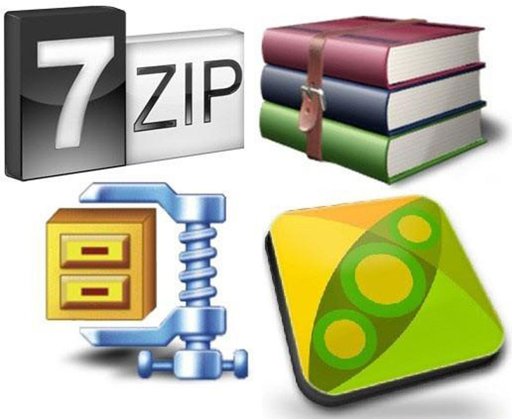 ZIP 7zip TAR RAR ISO GZIP Unpack Unzip Software Disc CD