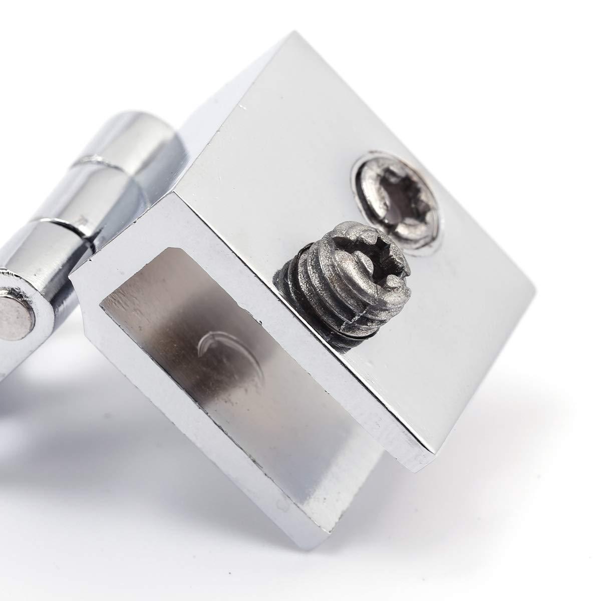 4 unidades, 5 mm-8 mm, rect/ángulo, ajustables Juego de bisagras para puerta de cristal SurePromise