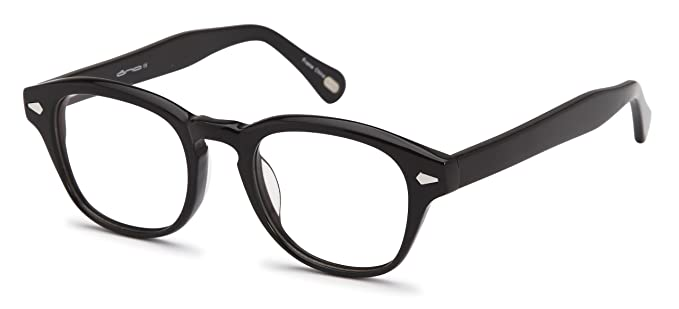 unisex oval glasses frames black prescription eyeglasses rxable 47 21 140