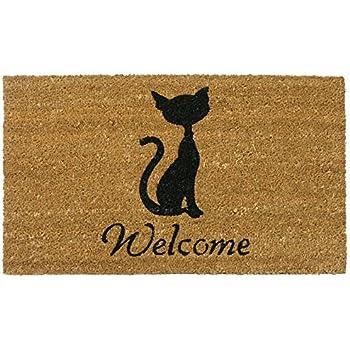 Merveilleux Rubber Cal Meow Cat Welcome Mats Cat Doormat, 18 X 30 Inch
