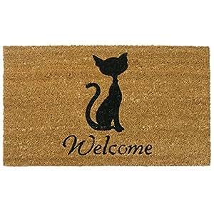 Rubber-Cal Meow Cat Welcome Mats Cat Doormat 18 x 30-Inch  sc 1 st  Amazon.com & Amazon.com: Rubber-Cal Meow Cat Welcome Mats Cat Doormat 18 x 30 ...