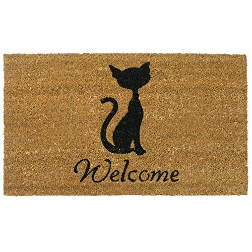Superieur Rubber Cal Meow Cat Welcome Mats Cat Doormat, 18 X 30 Inch