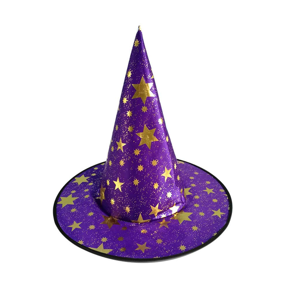 PoeHXtyy 1 PCs Halloween Hexe hat Magic hat Party Toys Cosplay f/ür Erwachsene und Kinder Spitz Hut