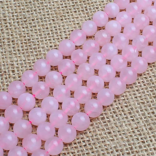 Genuine Natural Stone Beads Pink Rose Quartz Round Loose Gemstone 8mm 1 Strand 15.5