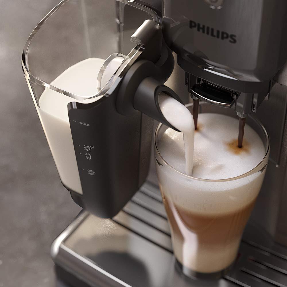 Philips Serie 5000 EP5335/10 Cafetera Súper, 6 Bebidas de Café, Jarra de Leche Latte Go Muy Facil de Limpiar, Limpieza Automatica, Molinillo Ceramico, ...