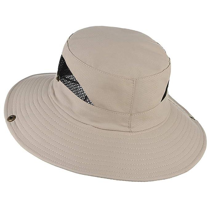 909b5102 Foldable Bucket Hat Men Women Summer Sun Hats Breathable Mesh Flat Top Wide  Brim Fisherman Cap