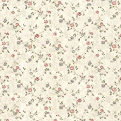 Mirage 992-44418 Alex Delicate Satin Floral Trail Wallpaper, Beige