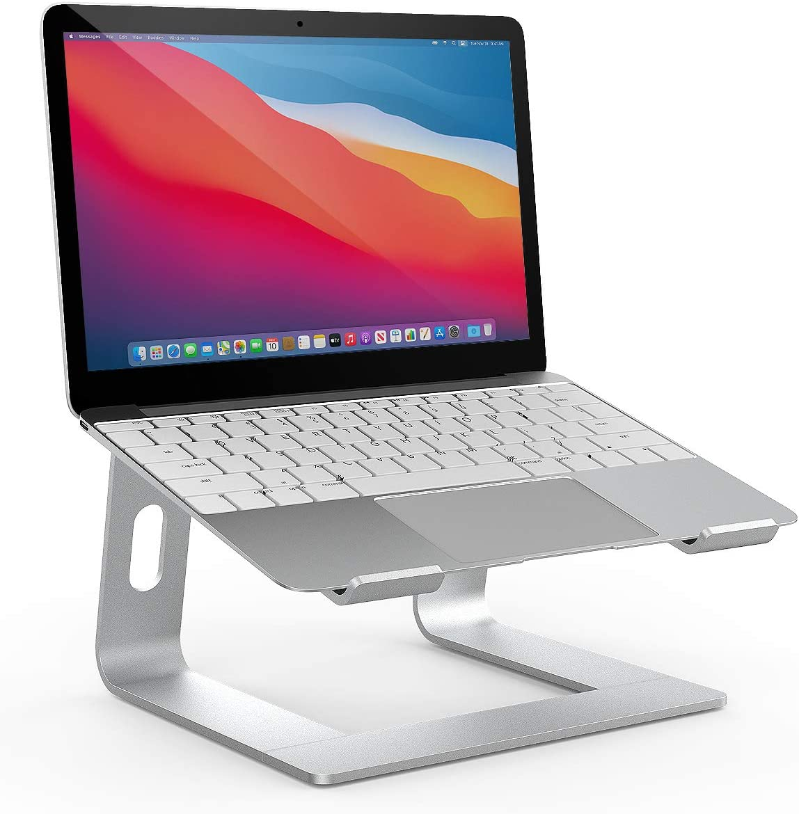 Trendy Laptop Stand for Desk, Detachable Laptop Riser Notebook Holder Stand, Ergonomic Aluminum Laptop Elevated Stand, for MacBook Air Pro, Dell XPS, HP, Lenovo, ASUS More 10-15.6