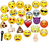 JZK 27 x Emoji photo booth props paper party selfie props on stick for kids & adults party supply accessory for wedding Hen party birthday baby shower Christmas Halloween graduation