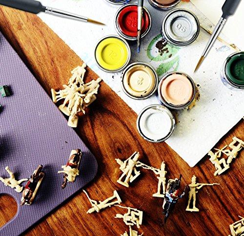 (Lokirif) plastic brush 3 sets (width #000-#0) (thin small figure hobby plastic model paint brush) by RSPG (Image #2)