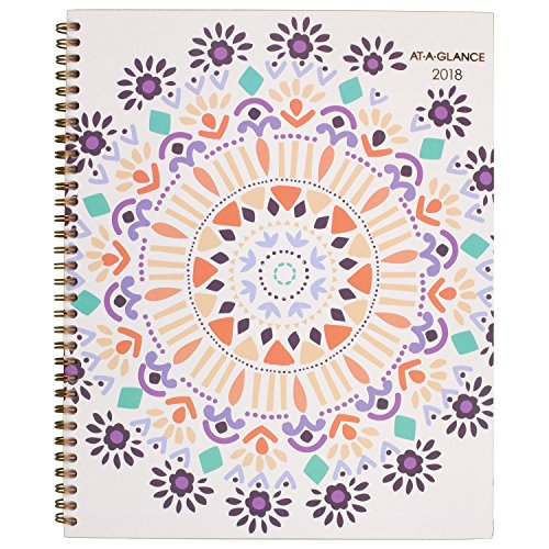 "AT-A-GLANCE Weekly / Monthly Planner, January 2018 - December 2018, 8-1/2"" x 11"", Sun Dance (1051-905)"