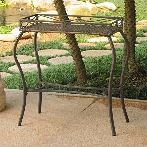 Valencia estructura, mimbre de resina rectangular de la mesa ...