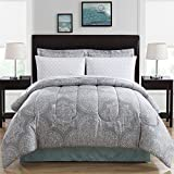 Eastern King Bed in a Bag Ellison Great Value Silverton 8 Piece Bed in a Bag, King, Blue
