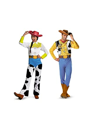Toy Story Woody and Jessie Couples Costume  sc 1 st  Amazon.com & Amazon.com: Toy Story Woody and Jessie Couples Costume: Clothing