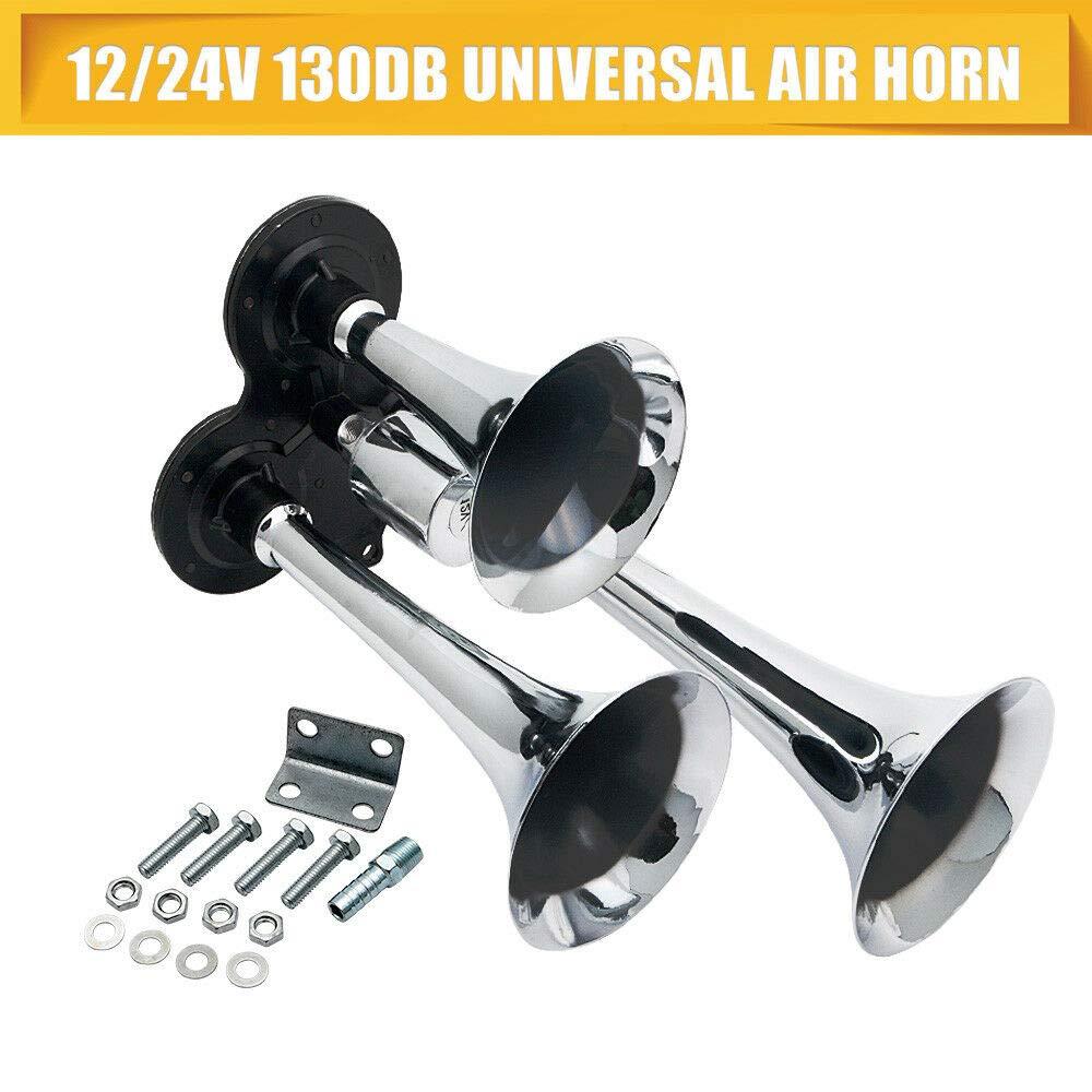 MASO Universal Car Motorcycle Electric Horn Off-Road Air Horns 110DB Waterproof Horn Loud Speakers 12V