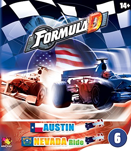 Asmodee Editions Formula D Expansion 6 Austin/Nevada Ride Game