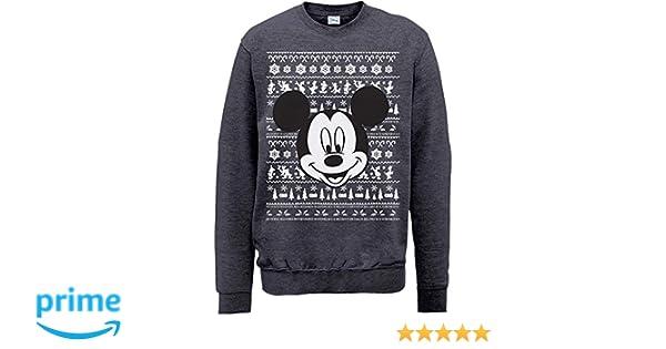 Brands In Limited Mouse Christmas Mickey Head, Sudadera para Hombre: Amazon.es: Ropa y accesorios