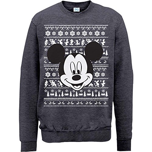 Brands Limited Homme Gris foncé Sweat Christmas Head In Mickey chiné Mouse shirt rqr85