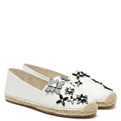 779239ce1b45 Michael Michael Kors LOLA Espadrille Floral Leather (10) Optic White