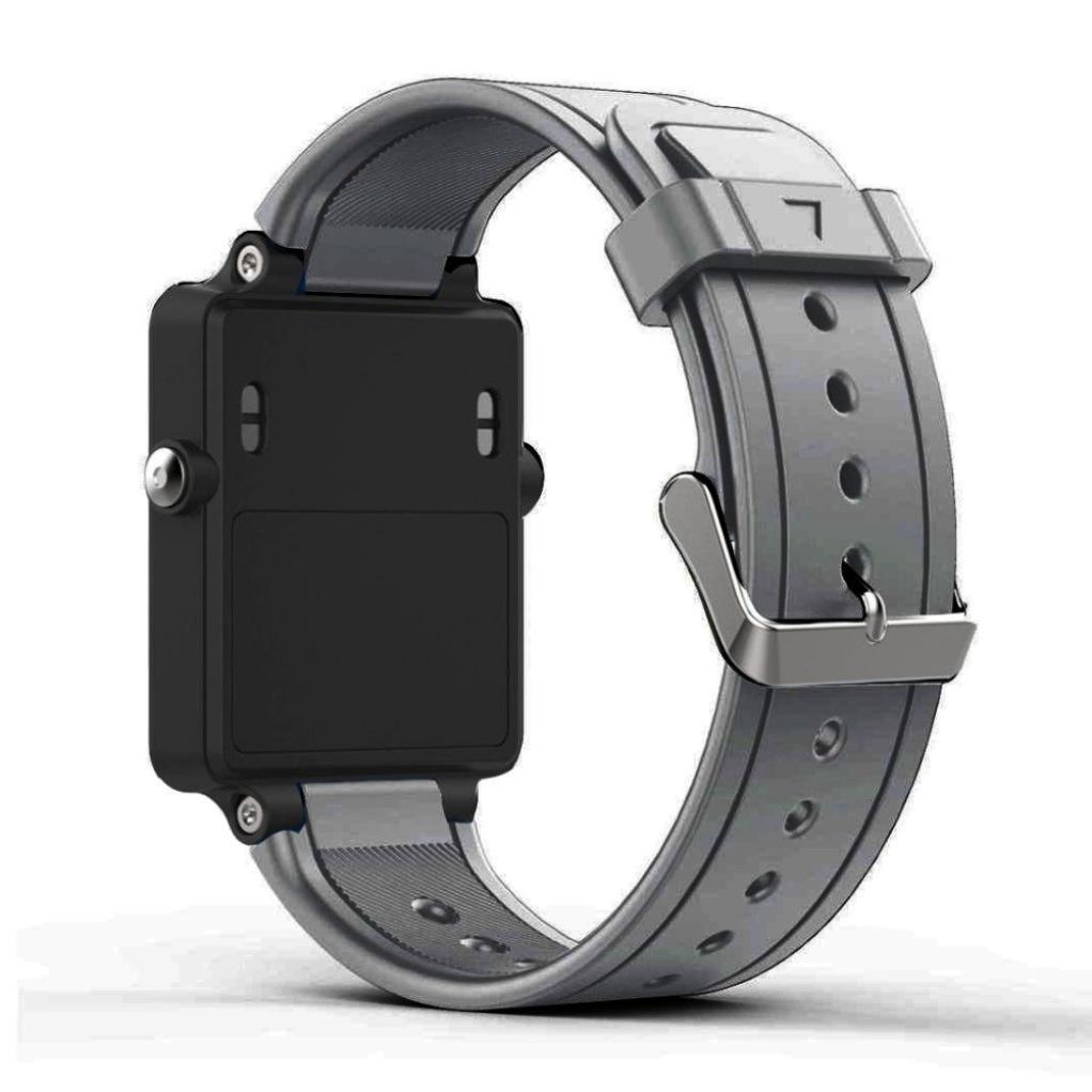 veepola新しいファッションソフトシリコンスポーツブレスレットストラップ腕時計バンドfor Garmin vivoactive酢酸  グレー B079S8B8H9