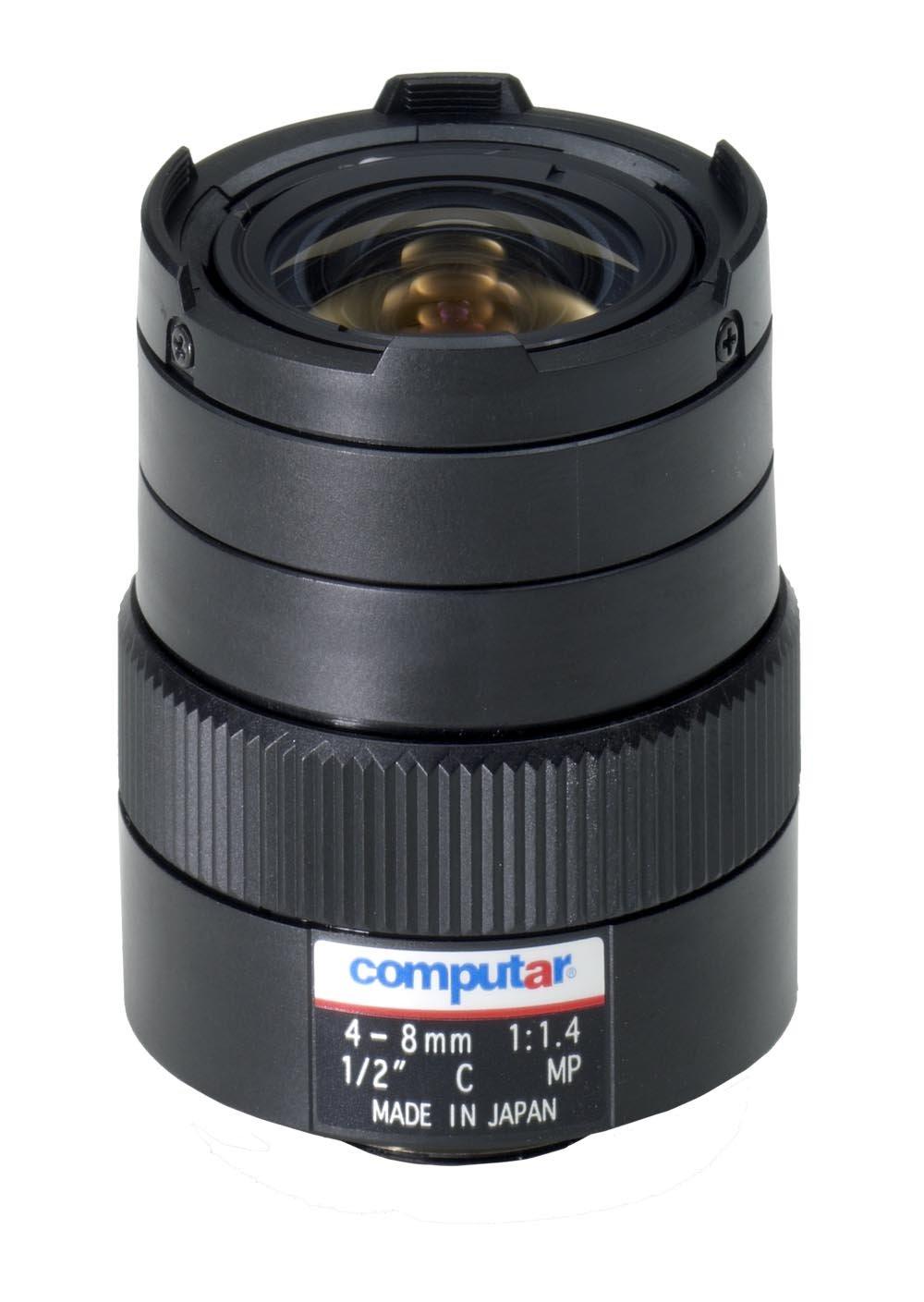 Computar H2Z0414C-MP 0.5-Inch 1.3 Megapixel Varifocal lens 4-8mm F1.4 Manual Iris by Computar