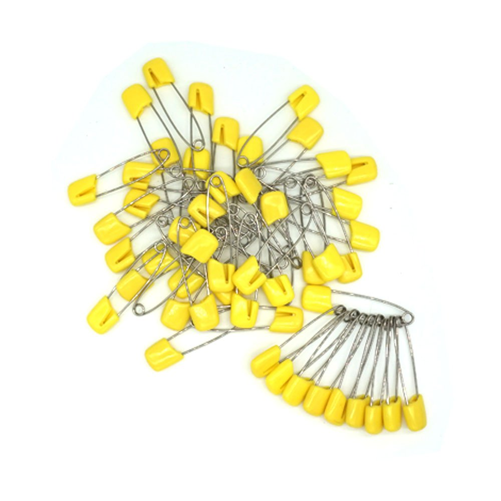 GTONEE Baby Safety Pins Secure Clips for Fastening Baby Clothes Diaper Napkins 50pcs 60PCS 30PCS Pink, 60 pcs