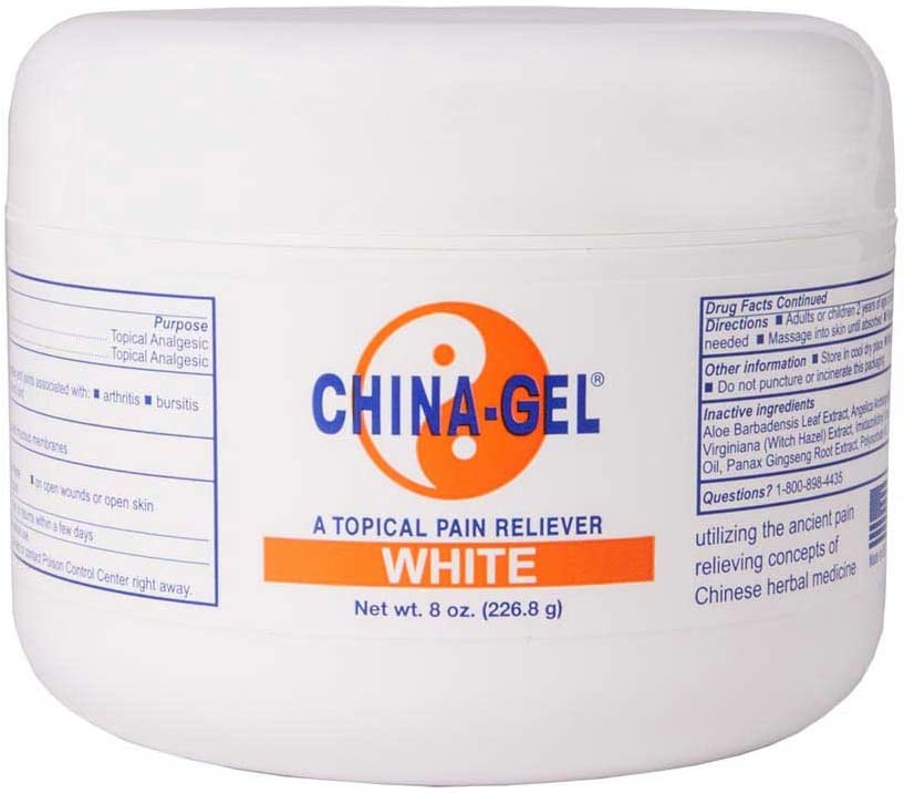 China-Gel - Topical Pain Reliever, 8 oz, White