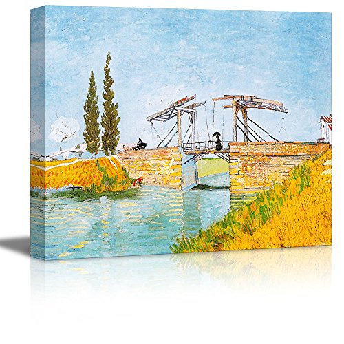 Wall26 - Langlois Bridge at Arles by Vincent Van Gogh - Oil Painting Reproduction on Canvas Prints Wall Art, Ready to Hang - 16