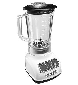 KitchenAid 5-Speed Blender RRKSB1570WH, 56-Ounce, White (Certified Refurbished)