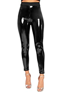 e37925e191 WearAll Women s Wet Look Shiny Pu Jeggings Trousers High Waisted Leggings