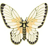 Retro Antique Gold Beige Orange Enamel Butterfly Lovely Girl Insect Brooch Fashion Women Accessories