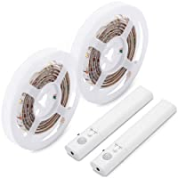 Amagle Flexible 3.28ft 4000K Natural White Dual Mode LED Strip Light, Motion Sensor Activated, Lighting for Kitchen, Drawer, Stairs (Natural White,2 Pack)