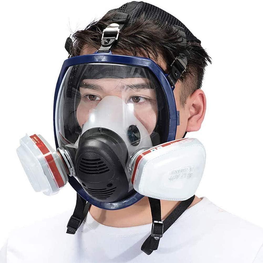 XIAOCUI Filtro de protección,Reutilizable,Gas Cara Completa Pintura En Aerosol Equipo Químico De Protección Laboral Equipo De Bombero