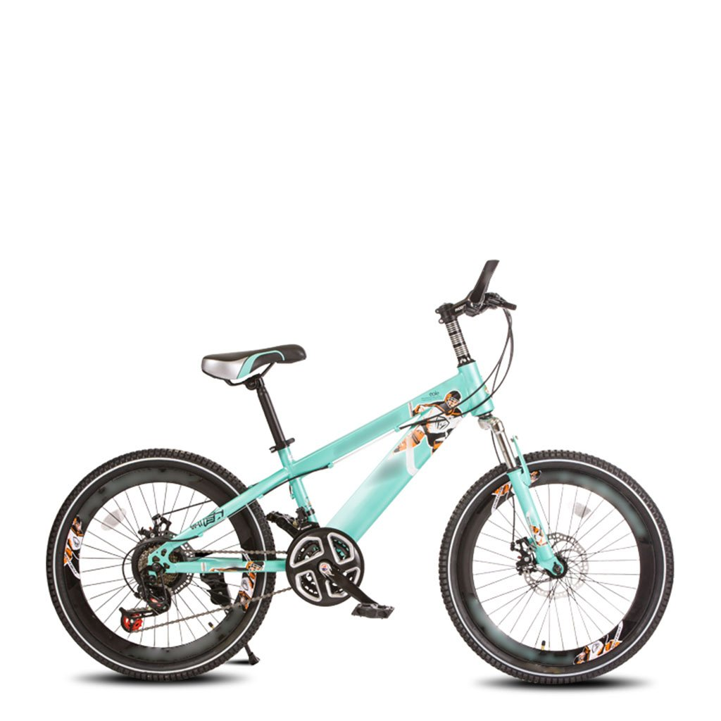 子供用自転車、学生用可変速自転車ダンピングマウンテンバイク B07C6FPD7D 青 青