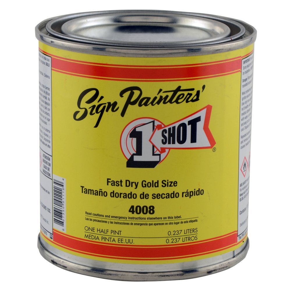 1 Shot 4008 Fast Dry Gold Size 8oz