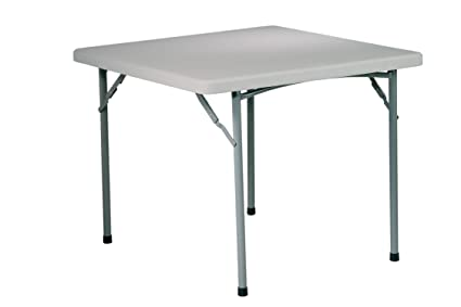 Office Star Resin Multipurpose Square Table, 3 Feet
