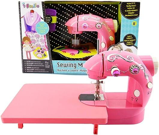 Máquinas De Coser Infantiles con Mesa De Extensión. Pequeña Herramienta De Costura para El Hogar De Mano para Principiantes con Pedal Simple Y Fácil De Usar Navidad Presente: Amazon.es: Hogar